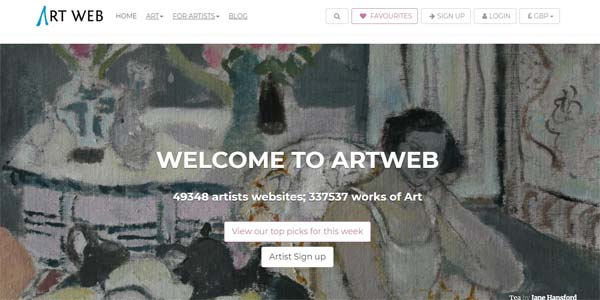 Art Web Artist Websites