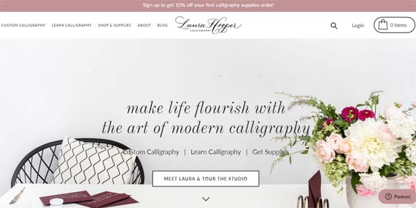 Laura Hooper Calligraphy Classes