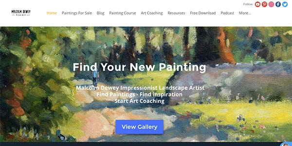Malcolm Dewey Website- Online Art Classes