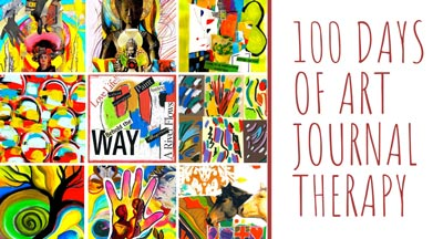 100 Days of Art Journal Therapy by Shelley Klammer