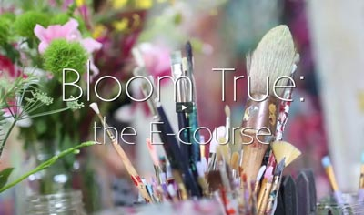Bloom True Art eCourse by Flora Bowley