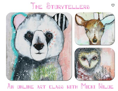 The Storytellers Art Class by Micki Wilde