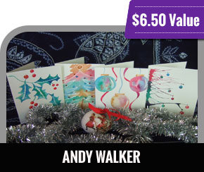 Andy Walker - Paint your own Contemporary Christmas cards