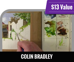 Colin Bradley - Paint a Castle with Watercolour