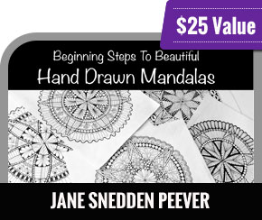 Jane Snedden Peever - Beginning Steps to Beautiful Hand Drawn Mandalas
