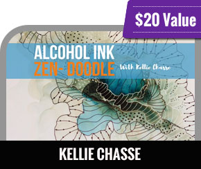 Kellie Chasse - Mini Course Alcohol Ink Zendoodle Fluid Art with Pen and Ink
