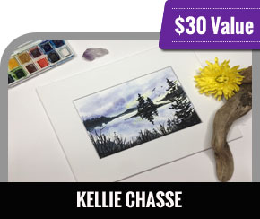 Kellie Chasse - Sunset Watercolor Painting for beginners