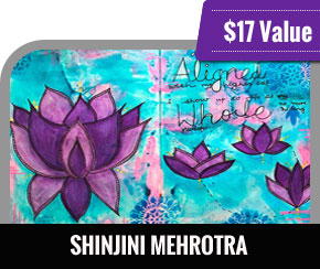 Shinjini Mehrotra - Art journal shots: Atomic Lotus Course